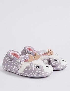 Kids' Deer Ballet Slippers (5 Small - 12 Small), MULTI, catlanding