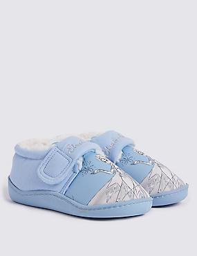 Kids' Disney Frozen™ Slippers (5 Small - 12 Small), BLUE, catlanding
