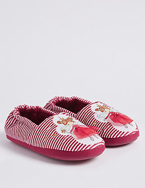 Kids' Fairy Slippers (5 Small - 12 Small), RED, catlanding