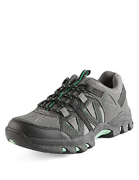 Kids' Freshfeet™ Lace Up Trekker Trainers with Silver Technology