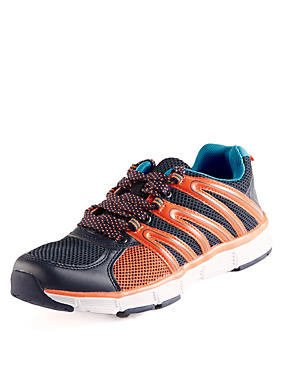 Kids' Freshfeet™ Lace Up Lightweight Trainers with Silver Technology
