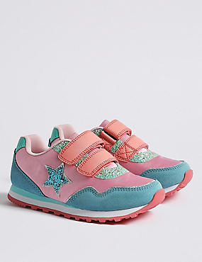 Kids' Star Fashion Trainers (5 Small - 12 Small), PINK MIX, catlanding