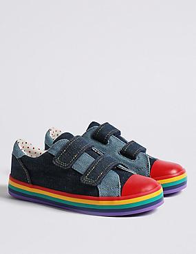 Kids' Rainbow Fashion Trainers (5 Small - 12 Small), DENIM, catlanding