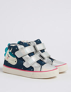 Kids' High Top Trainers (5 Small - 12 Small), NAVY, catlanding