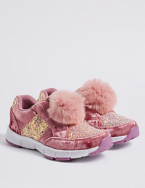 Kids' Slip-on Fashion Trainers (5 Small - 12 Small), PINK MIX, catlanding