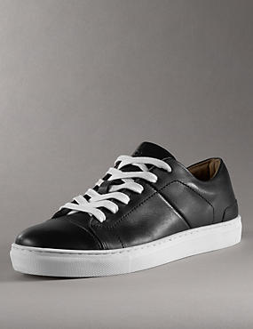 Kids' Leather Lace Up Trainers