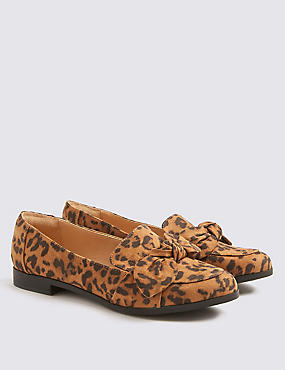 Kids' Leopard Loafers (13 Small - 6 Large), BROWN MIX, catlanding