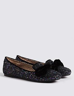 Kid's Glitter Shoes (13 Small - 6 Large), BLACK, catlanding