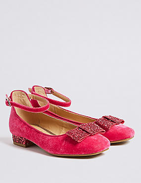 Kids' Cross Bar Shoes (13 Small - 6 Large), PINK, catlanding
