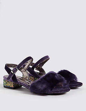 Kid's Block Heel Sandal (13 Small – 6 Large), PURPLE, catlanding