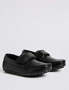 Kids' Loafers with Freshfeet™ (5 Small - 12 Small), BLACK, catlanding