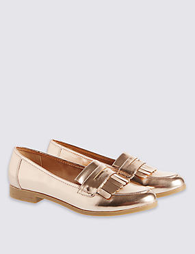 Kids' Metallic Loafers