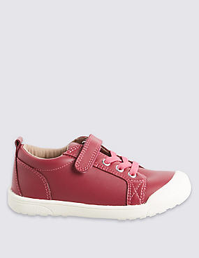 Kids' Leather Riptape Trainers