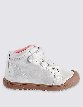 Kids' Leather Mid Top Trainers