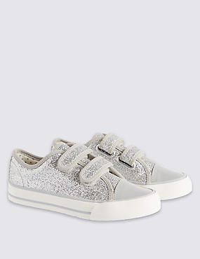 Kids' Sparkle Riptape Trainers