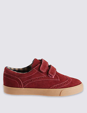 Kids Suede Brogue Shoes with Water Repellent Finish