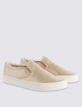 Kids' Faux Snakeskin Slip-On Trainers