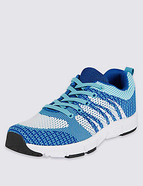 Kids' Lace-up Knitted Sports Trainers