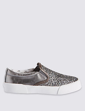 Kids' Slip On Glitter Trainers