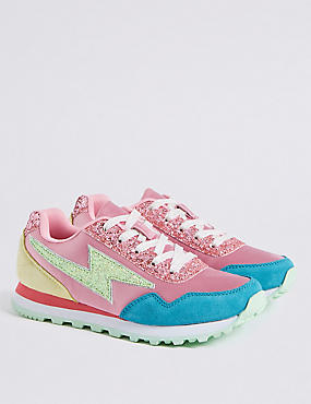 Kids' Satin Fashion Trainers