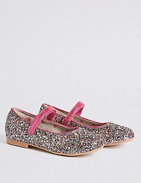 Kids' Riptape Glitter Cross Bar Shoes