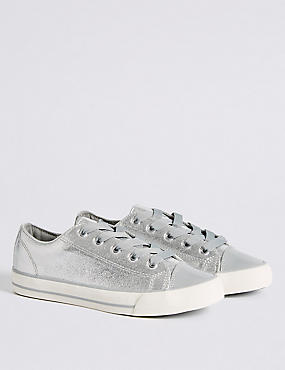 Kids' Sparkle Lace-up Trainers