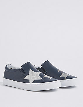 Kids' Slip-on Star Print Trainers