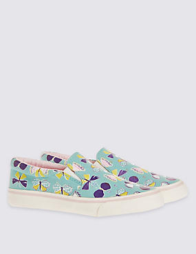 Kids' Butterfly Print Trainers