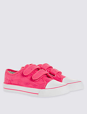 Kids' Broderie Low Top Trainers