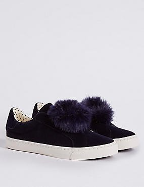 Kids' Pom Pom Slip-on Fashion Trainers