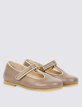 Kids' Leather T-Bar Shoe