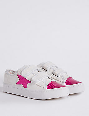 Kids' Sequin Riptape Fashion Trainers