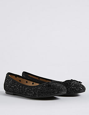 Kids' Glitter Slip-on Ballerina Shoes