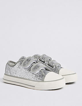 Kids' Sparkle Riptape Fashion Trainers