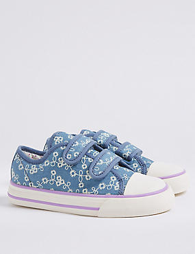 Kids' Denim Riptape Fashion Trainers (5 Small - 12 Small)