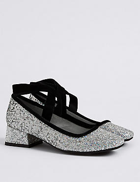 Kids' Glitter Pump Shoes