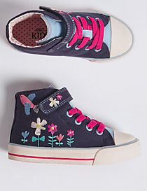 Kids' Embroidered High Top Fashion Trainers