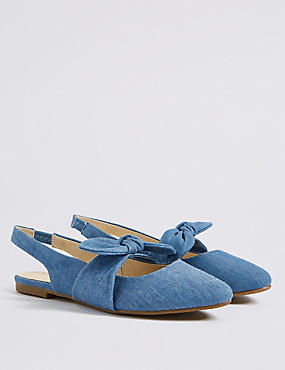 Kids' Slingback Bow Shoes