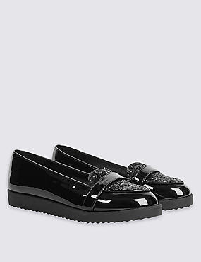 Kids' Heart Sparkle Loafers