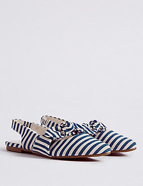 Kids' Striped Sling Back Shoes