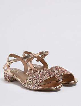 Kids' Block Heel Sandals (13 Small - 6 Large), ROSE, catlanding