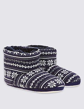 Kids' Fairisle Slippers