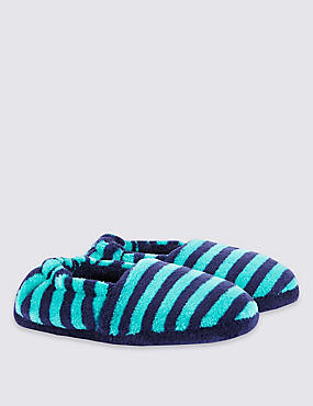 Kids' Striped Slippers
