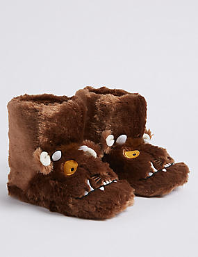 Kids' The Gruffalo™ Slippers (5 Small - 12 Small), BROWN, catlanding