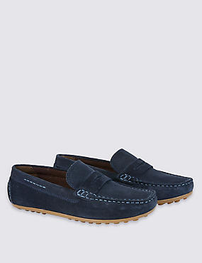 Kids' Water Repellent Suede Slip-on Shoes