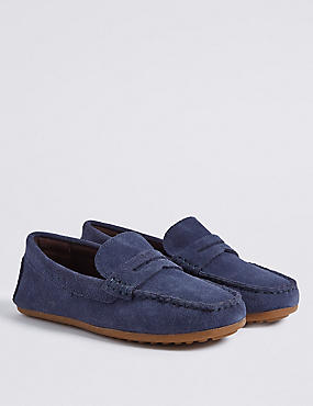 Kids' Suede Driving Shoes