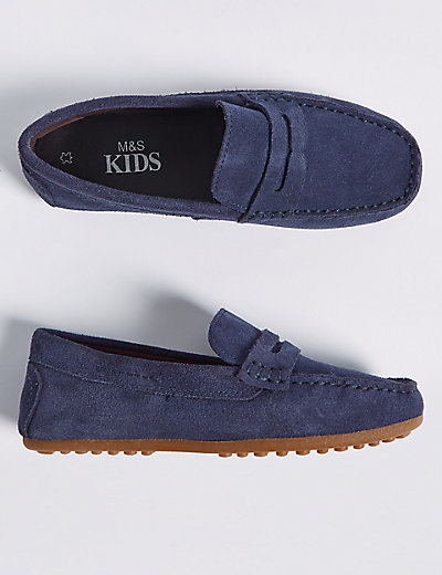 Kids Suede Driving Shoes 13 Small 7 Large M S