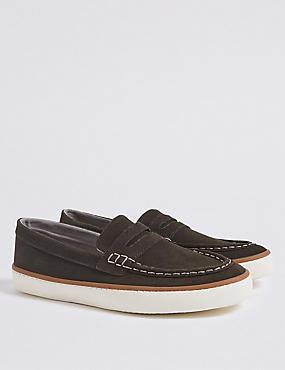 Kids' Loafer Slip-on Shoes (13 Small - 7 Large), BROWN, catlanding