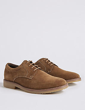 Kids' Suede Derby Shoes (13 Small - 7 Large), TAN, catlanding