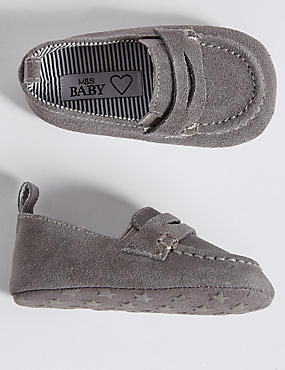 Baby Suede Pram Shoes